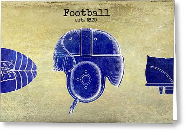 Brown Tones Greeting Cards - 1820 Football Drawing Greeting Card by Jon Neidert