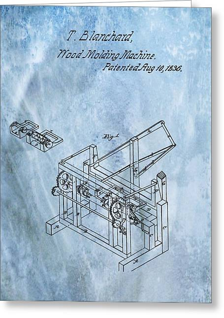 Saw Greeting Cards - 1836 Wood Molding Machine Greeting Card by Dan Sproul