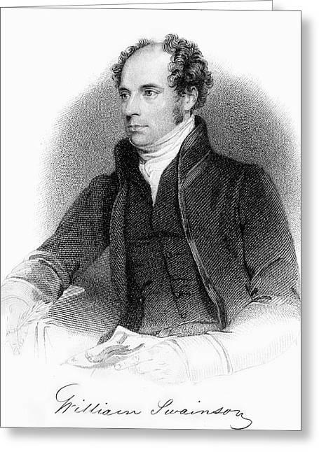1840 William Swainson Naturalist Portrait Greeting Card by Paul D Stewart