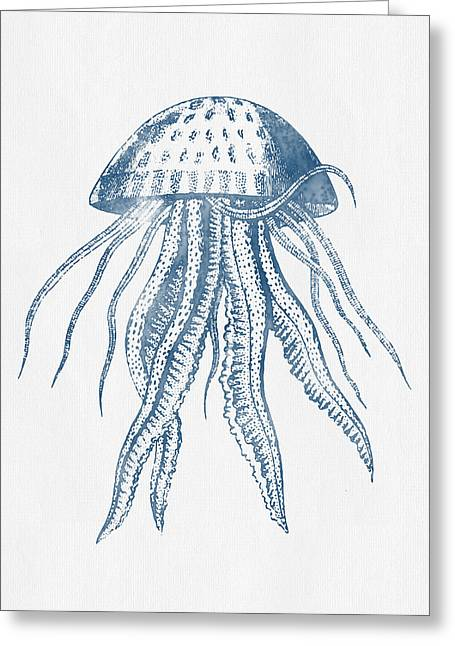Seashell Digital Art Greeting Cards - 1844 Octopus Ink Drawing Greeting Card by Aged Pixel