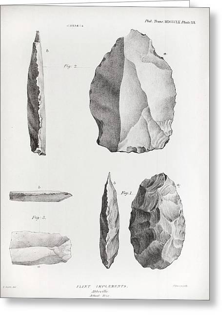 1860 Flint Implements Prestwich Article Greeting Card by Paul D Stewart