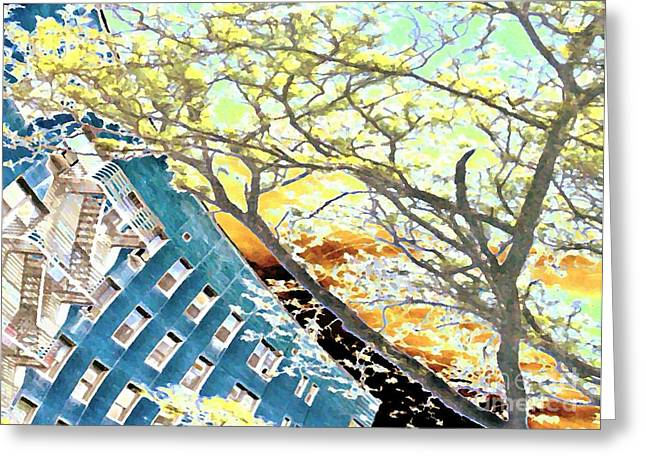 Washington Heights Greeting Cards - 187 Street Re-imagined Greeting Card by Sarah Loft