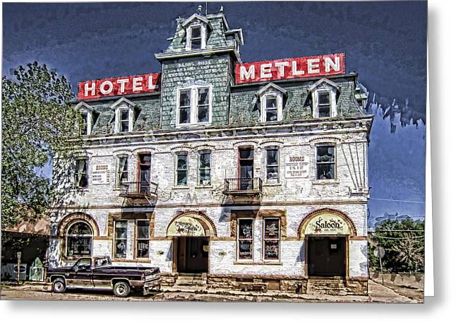 1875 Metlen Railroad Hotel - Dillon Montana Greeting Card by Daniel Hagerman