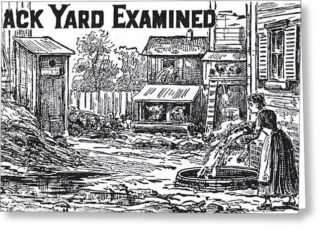 1880 Hygiene Public Service Ad Greeting Card by Daniel Hagerman