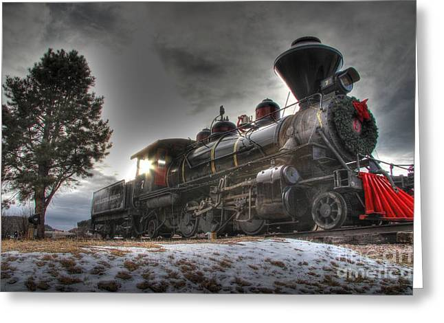 Greeting Card featuring the photograph 1880 Train by Bill Gabbert