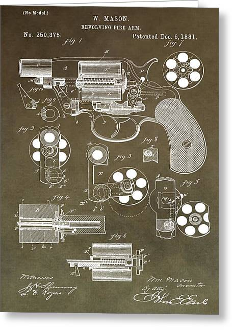 Samuel Greeting Cards - 1881 Firearm Patent Greeting Card by Dan Sproul