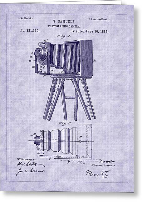 Aperture Greeting Cards - 1885 View Camera Patent Art Greeting Card by Barry Jones
