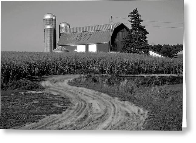 Barn Landscape Photographs Greeting Cards - 1887 Greeting Card by Steven Ainsworth