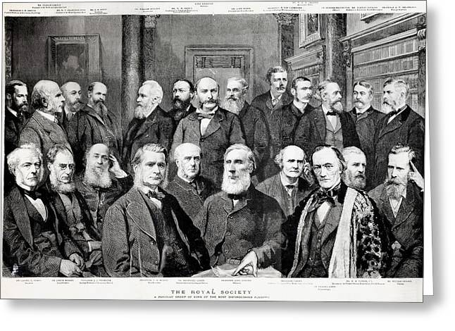 1889 Portrait Famous Fellow Royal Society Greeting Card by Paul D Stewart