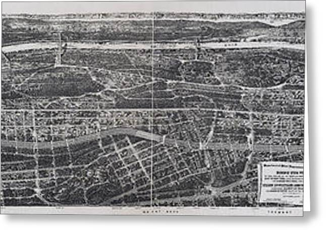 Harlem River Greeting Cards - 1897 Vintage NYC Map of the South Bronx Greeting Card by Stephen Stookey
