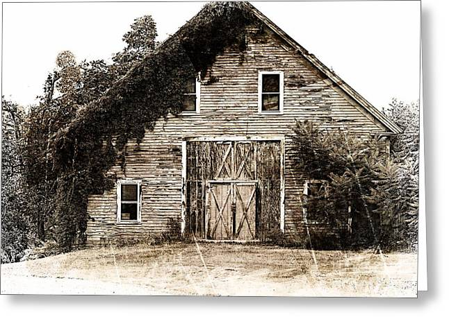 18th Century Barn Greeting Card by Marcia L Jones