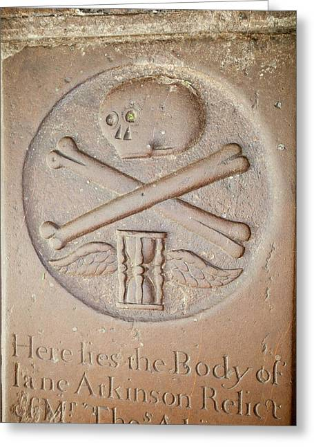 18th Century Gravestone Greeting Card by Ashley Cooper