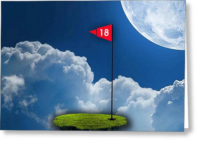 Golf Greeting Cards - 18th Hole Greeting Card by Marvin Blaine