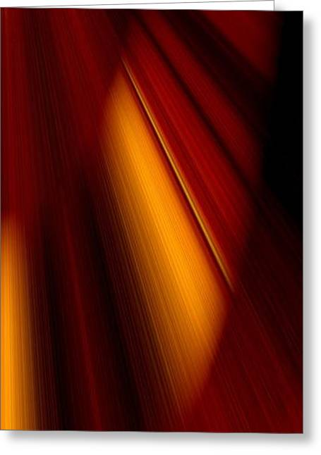 Abstract Art Greeting Card by Heike Hultsch