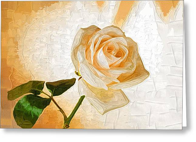 Close Up Paintings Greeting Cards - Abstract Flowers Paintings Greeting Card by Victor Gladkiy