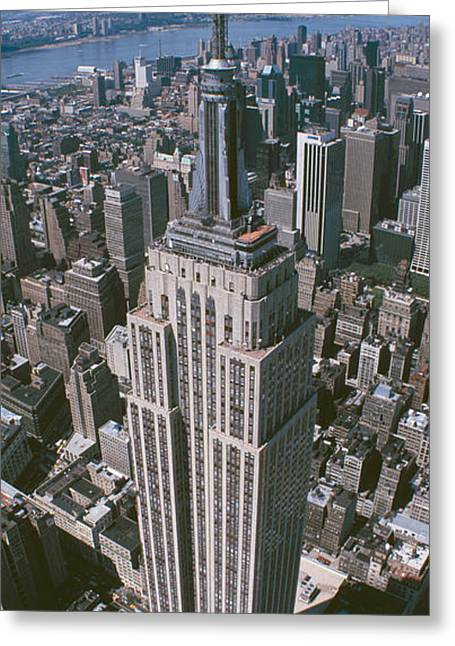 Midtown Greeting Cards - Aerial View Of Buildings In A City Greeting Card by Panoramic Images