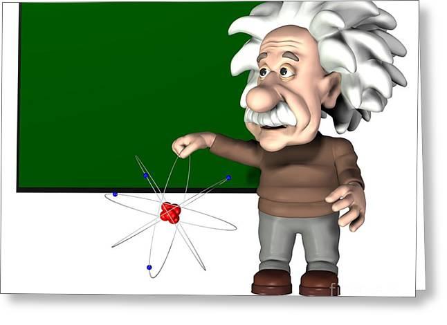 Level Of Speed Greeting Cards - Albert Einstein, Artwork Greeting Card by Friedrich Saurer