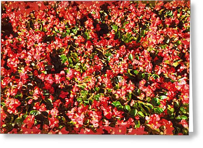 Close Up Paintings Greeting Cards - Art print Flowers Greeting Card by Victor Gladkiy