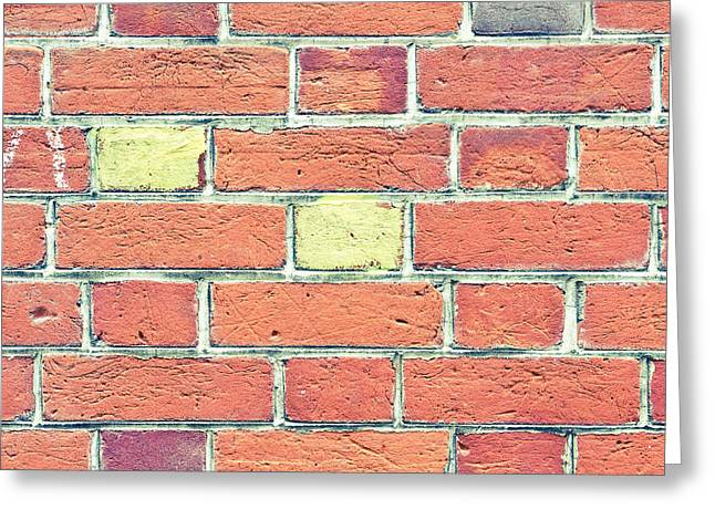 Sticking Out Greeting Cards - Brick wall Greeting Card by Tom Gowanlock