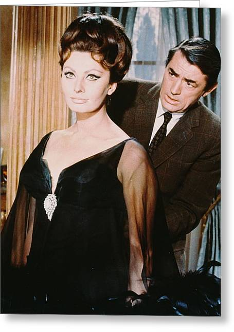 Sophia Loren Greeting Cards - Gregory Peck Greeting Card by Silver Screen