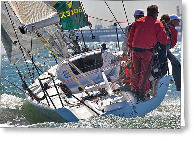 Seacape Greeting Cards - Melges San Francisco Greeting Card by Steven Lapkin