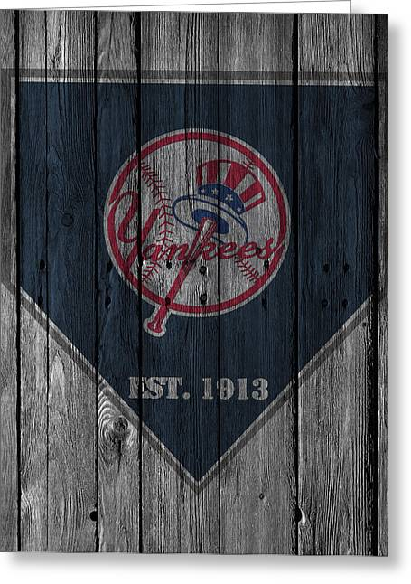 Barn Greeting Card Greeting Cards - New York Yankees Greeting Card by Joe Hamilton