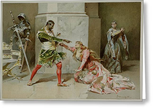 Othello. The Moor Of Venice Greeting Card by British Library