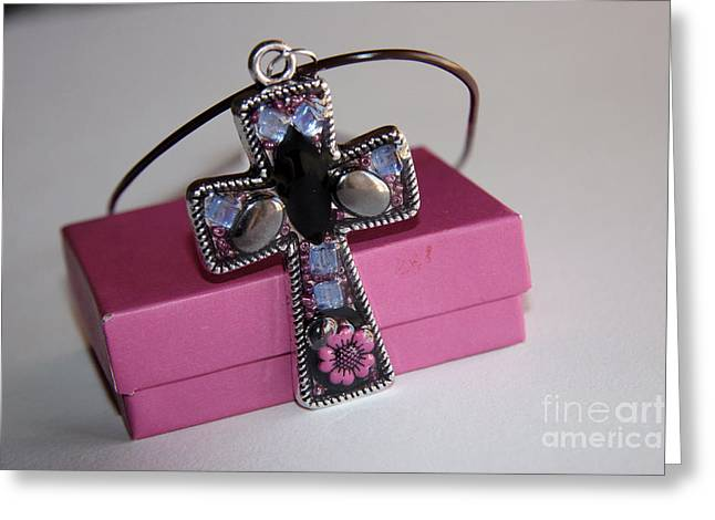 Pendant Greeting Card by Afrodita Ellerman