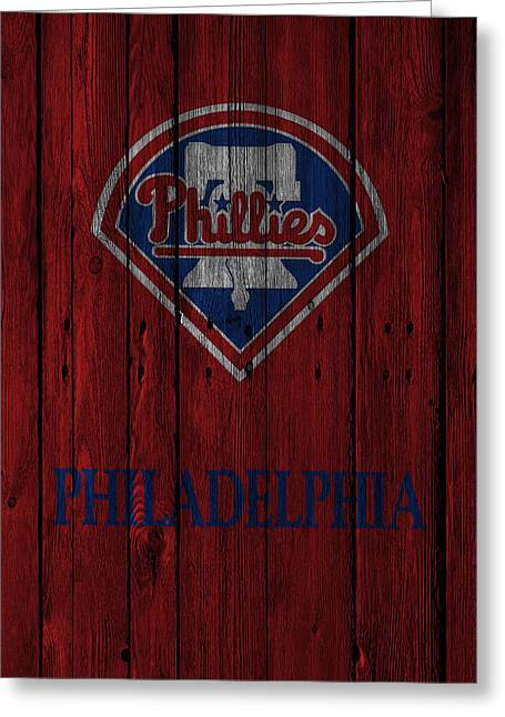 Philadelphia Greeting Cards - Philadelphia Phillies Greeting Card by Joe Hamilton