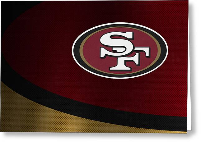 Christmas Greeting Greeting Cards - San Francisco 49ers Greeting Card by Joe Hamilton