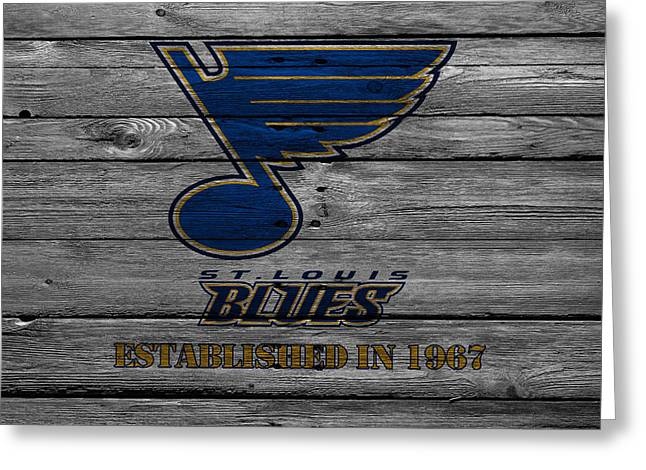 Playoff Greeting Cards - St Louis Blues Greeting Card by Joe Hamilton