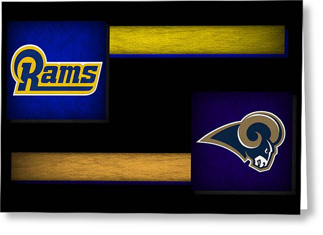 Rams Greeting Cards - St Louis Rams Greeting Card by Joe Hamilton