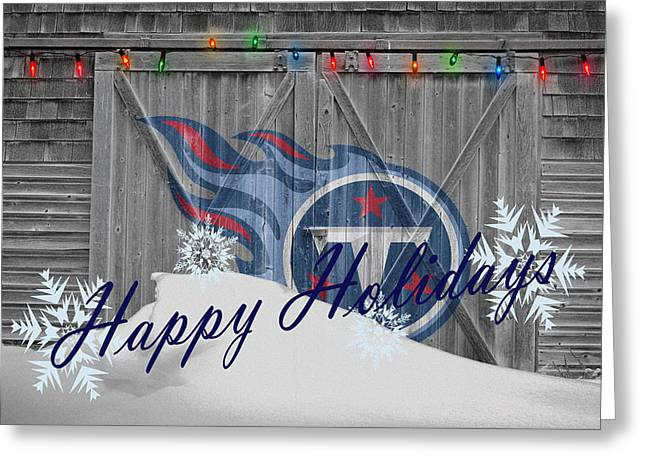 Players Greeting Cards - Tennessee Titans Greeting Card by Joe Hamilton