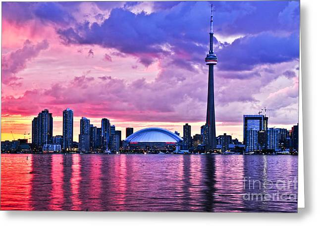 Urbanisation Greeting Cards - Toronto skyline Greeting Card by Elena Elisseeva