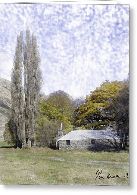 Shack Pastels Greeting Cards - Von River Valley Greeting Card by Tim Mulholland