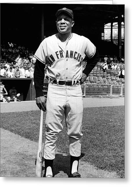 Willie Greeting Cards - Willie Mays Greeting Card by Retro Images Archive
