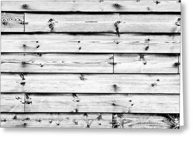 Boarding Greeting Cards - Wood background Greeting Card by Tom Gowanlock