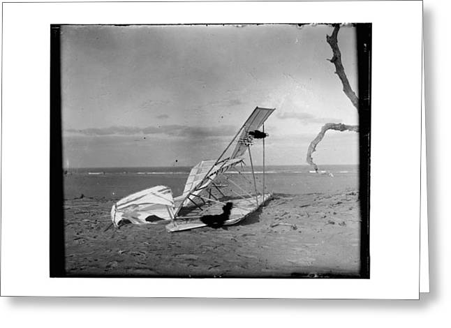Aviation Greeting Cards - 1900 Crumpled Wright Brothers Glider Greeting Card by MMG Archives