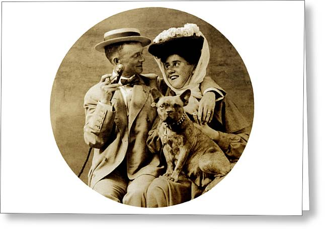 1900 Happy Young Couple Greeting Card by Historic Image
