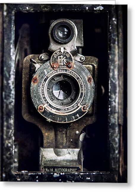 1900s Kodak Camera In Rusty Color  Greeting Card by Lisa Russo