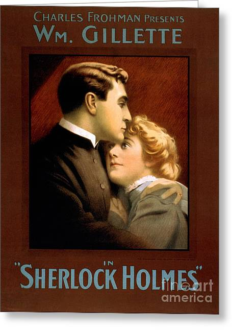 1900s Uk Sherlock Holmes Poster Greeting Card by The Advertising Archives