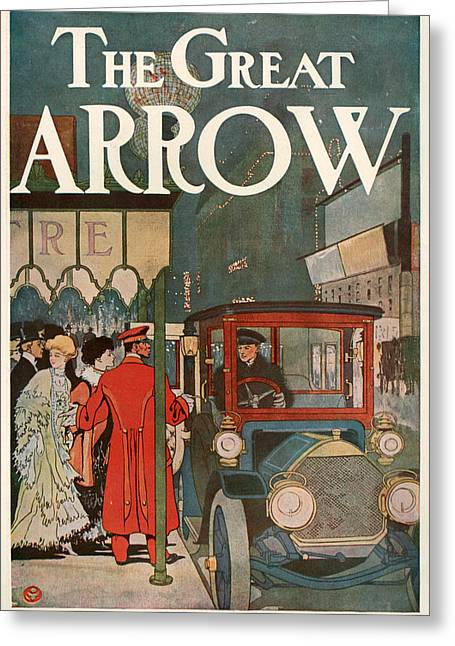 1907 Drawings Greeting Cards - 1900s Usa Pierce-arrow Magazine Advert Greeting Card by The Advertising Archives