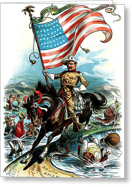 American Conservative Party Greeting Cards - 1902 Rough Rider Teddy Roosevelt Greeting Card by Historic Image