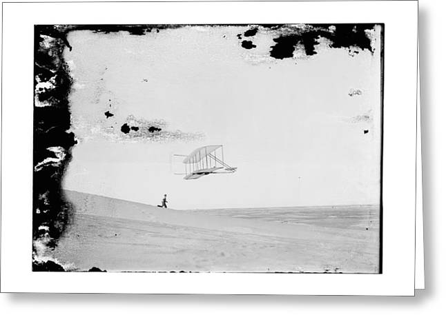 Negative Greeting Cards - 1902 Wilbur Wright Piloting Glider Greeting Card by MMG Archives