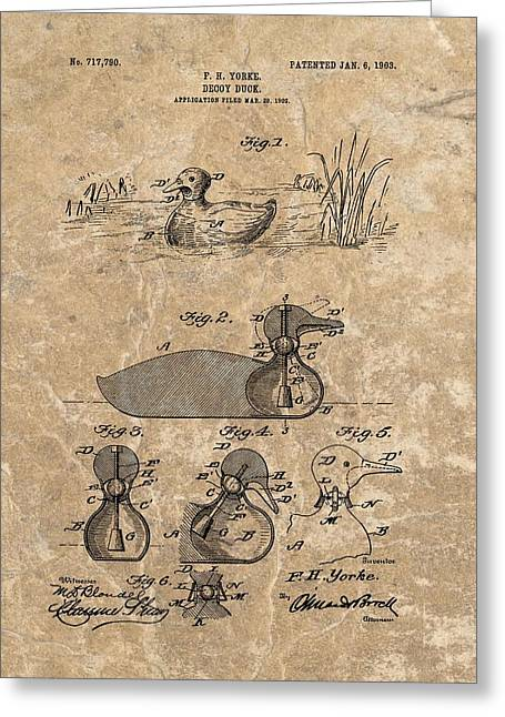 1903 Duck Decoy Patent Greeting Card by Dan Sproul