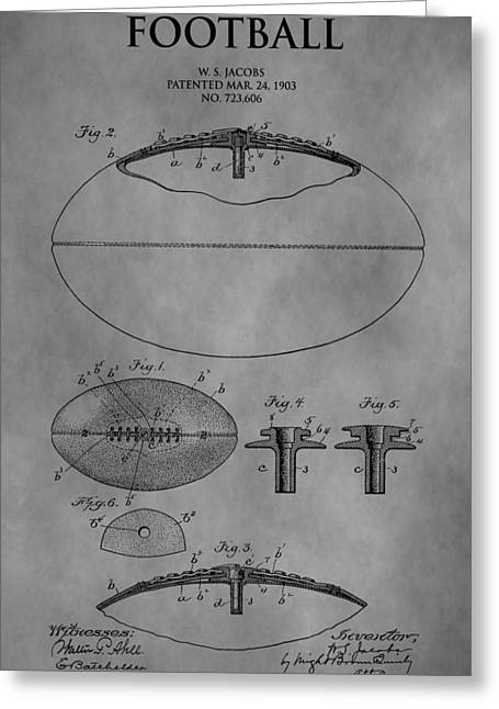 Points Drawings Greeting Cards - 1903 Football Patent Greeting Card by Dan Sproul