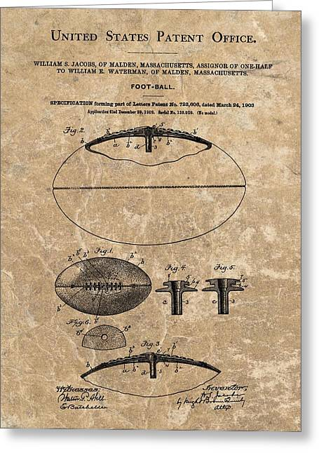 1903 Football Patent Marble Greeting Card by Dan Sproul