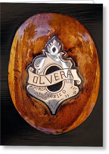 1903 Greeting Cards - 1903 Olvera Emblem Greeting Card by Jill Reger