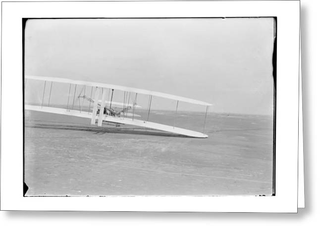 Flight Greeting Cards - 1903 Third Flight by Orville Wright Greeting Card by MMG Archives