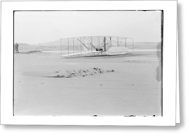 Flight Greeting Cards - 1903 Wright Brothers Damaged Airplane Greeting Card by MMG Archives